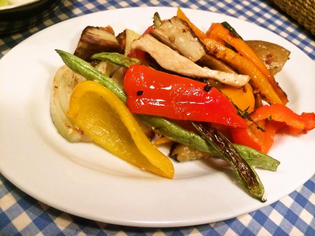 香川県の有機野菜のグリル。野菜はモノが良ければ焼くだけで十分!