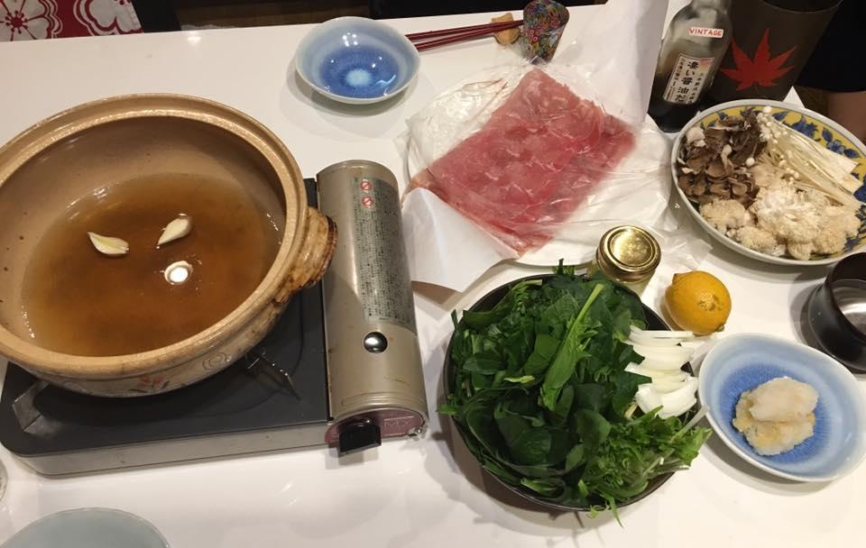常夜鍋というものを頂きました!