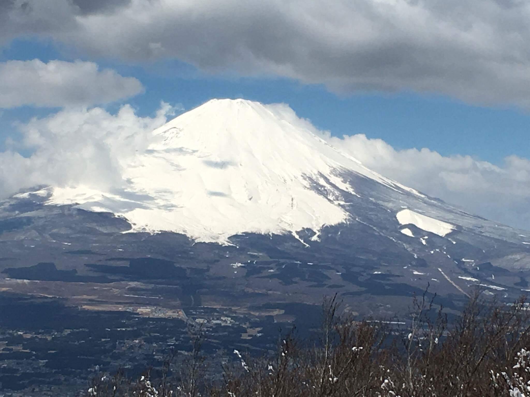 箱根金時山から富士山を望む!