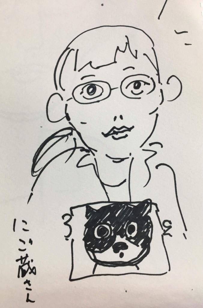 似顔絵描きました!
