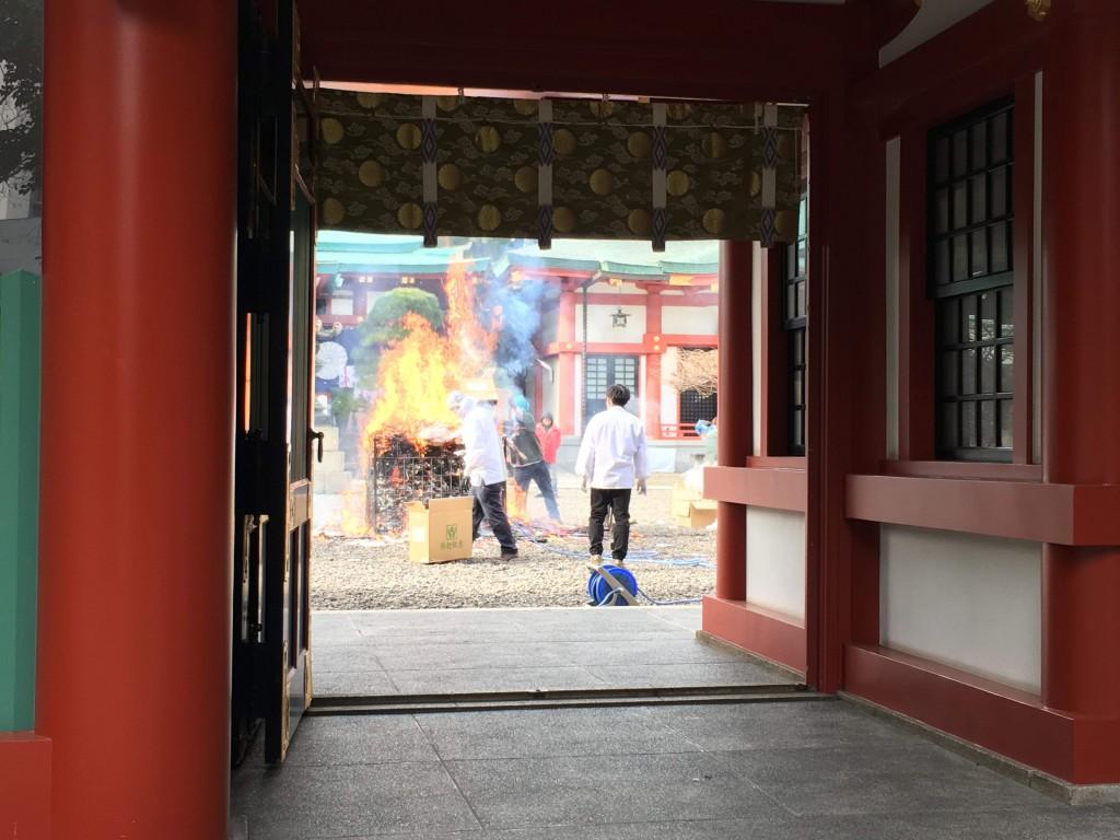 5年ぶりの日枝神社お焚き上げ!