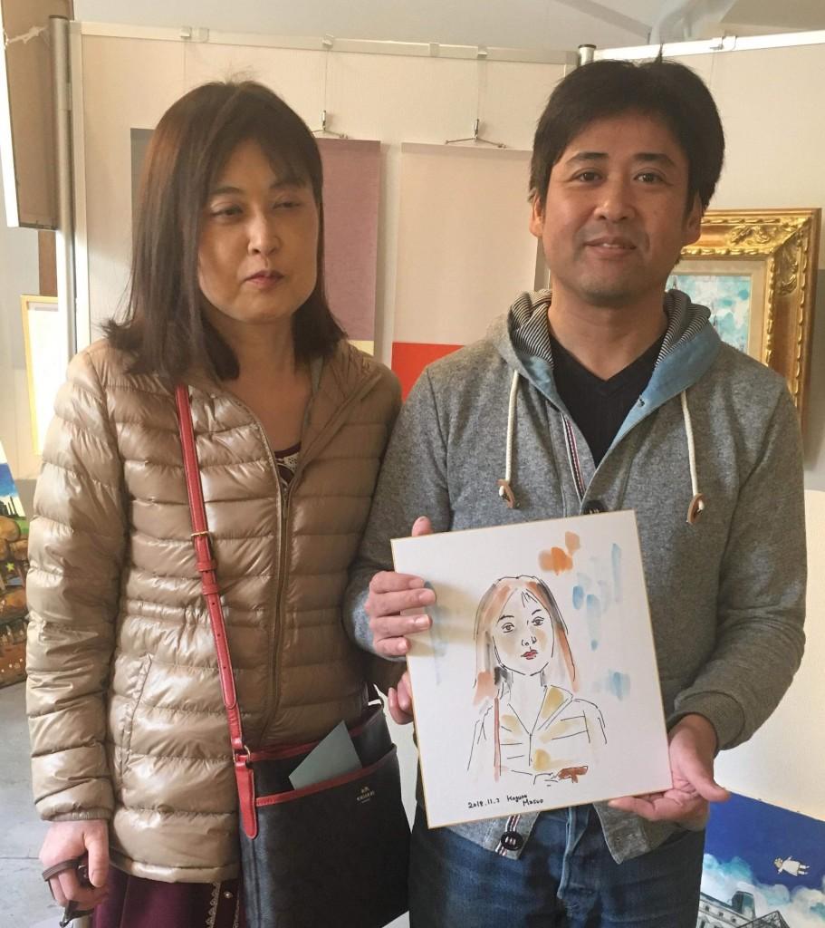 本日、千秋楽も夜7時までやっております〜肖像描きいたしました!