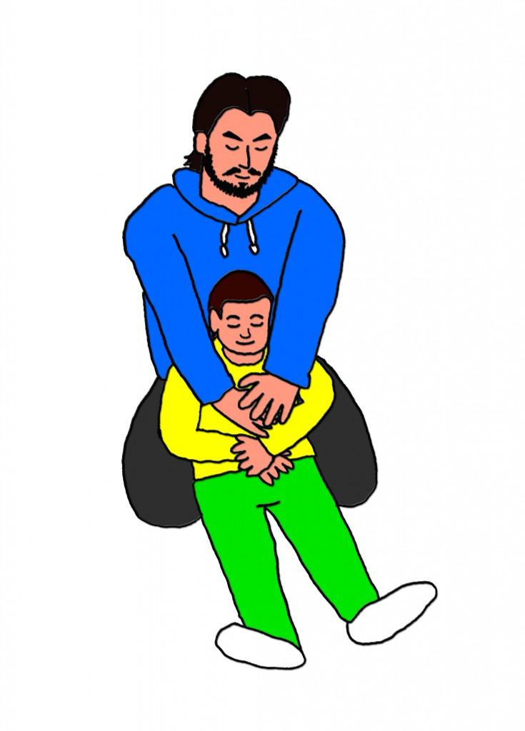 子ども抱きかかえ1