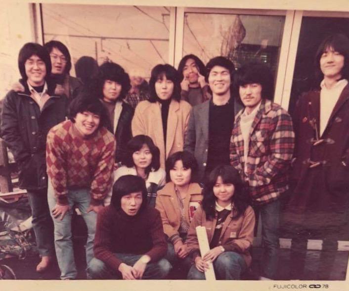 佐藤全考先生の遺作展をきっかけに、東横美術の予備校時代〜18歳の時の写真が送られてきました。